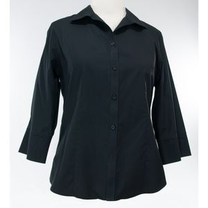 Black Chico's 2(L) button-front shirt